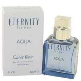 Eternity Aqua par Calvin Klein Eau De Toilette Spray 1 oz (Homme) 30ml