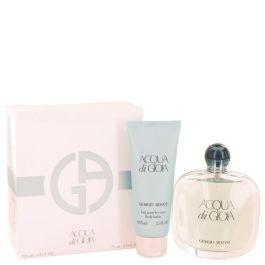 Acqua Di Gioia par Giorgio Armani Gift Set -- 3.4 oz Eau De Parfum Spray + 2.5 oz Body Lotion (Femme) 100ml