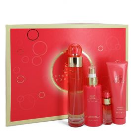 Perry Ellis 360 Coral par Perry Ellis Gift Set -- 3.4 oz Eau De Parfum Spray + .25 oz Mini EDP Spray + 4 oz Body Mist Spray + 3 oz Shower Gel (Women)