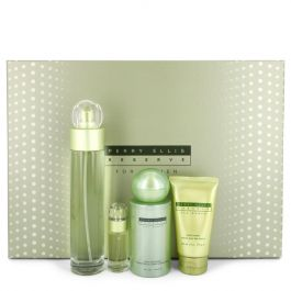 PERRY ELLIS RESERVE par Perry Ellis Gift Set -- 3.4 oz Eau De Parfum Spray + 4 oz Body Mist + 2 oz Hand Cream + .25 oz Mini EDP Spray (Women)